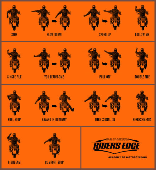 Group Riding Hand Signals